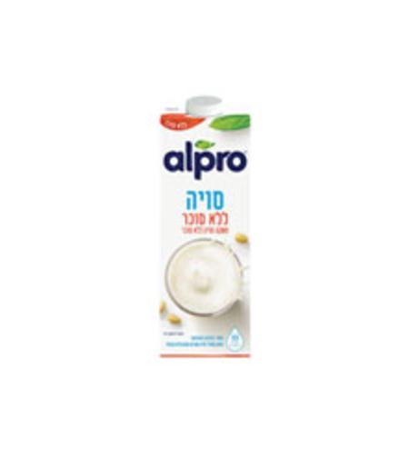 אלפרו משקה סויה ללא סוכר