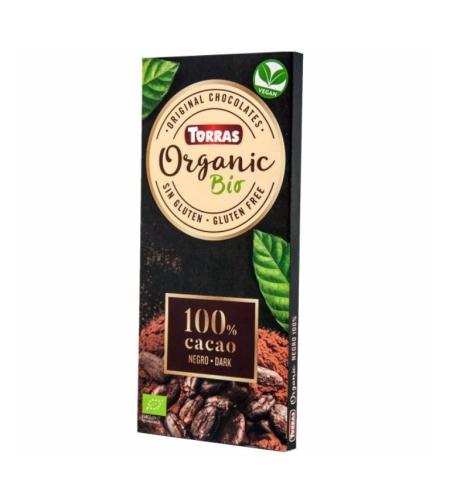 טוראס – שוקולד אורגני מריר 100% קקאו 100 גרם