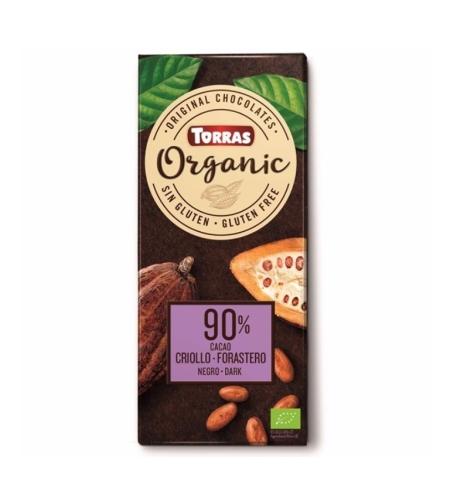 טוראס – שוקולד אורגני מריר 90% קקאו 100 גרם