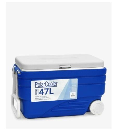 צידנית קשיחה עם גלגלים 47 ליטר Polar Cooler