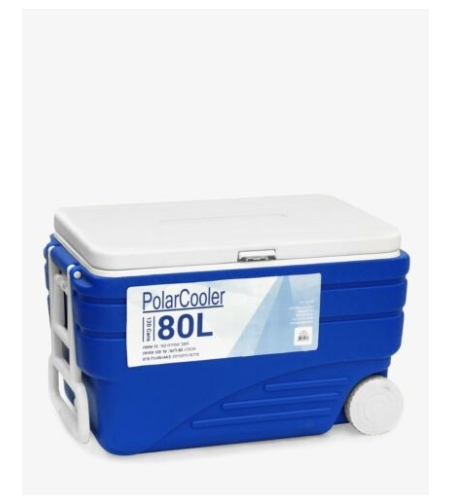 צידנית קשיחה עם גלגלים 80 ליטר Polar Cooler