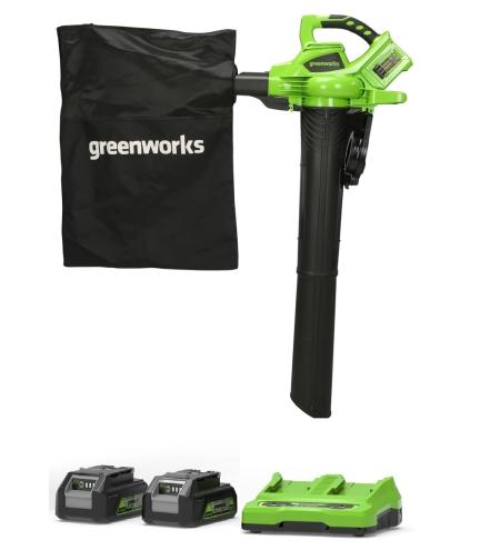 מארז מפוח / שואב עלים greenworks 48v
