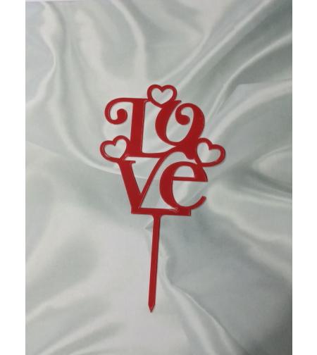 טופר  LOVE אדום