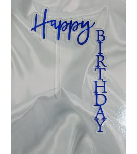טופר HAPPY BIRTHDAY  - כחול