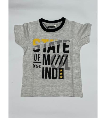 חולצת בנים מודפס 4-8 שחור\כחול\אפור
