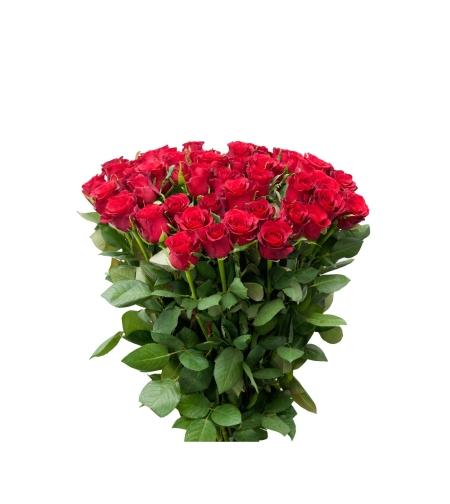 זר 51 ורדים גבוהים