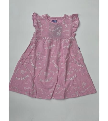 שמלה בנות 4-12 שחור\ורוד