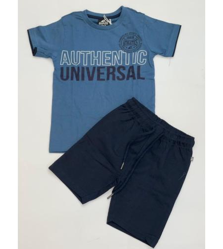 חליפת בנים  (2-8) כחול,אפור,לבן