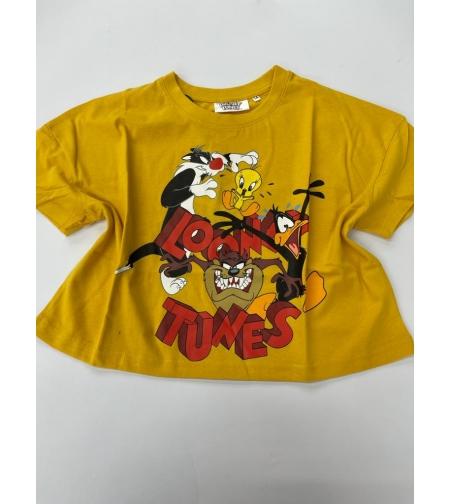חולצה נערות 100% כותנה 14-18 (צהוב\שחור\ורוד\לבן)