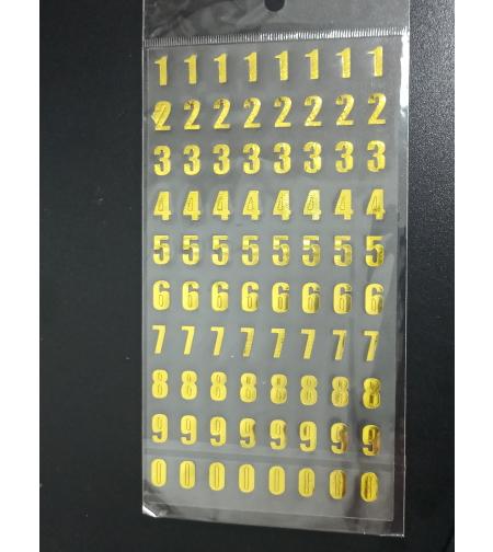 מדבקות מספרים בצבע זהב