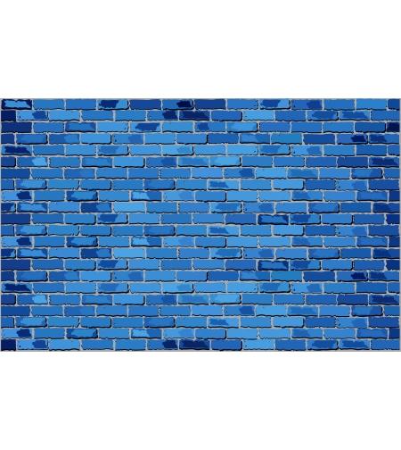 טפט מדבקה 35*35  דגם בריקים כחולים