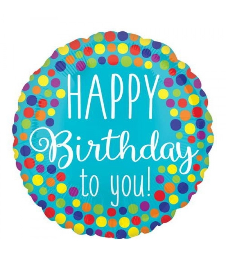 Happy Birthday To You טורקיז מנוקד
