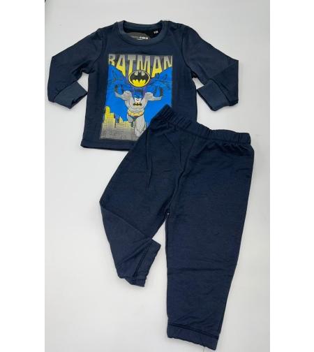 חליפה בייבי בנים 12-24M כחול\אפור