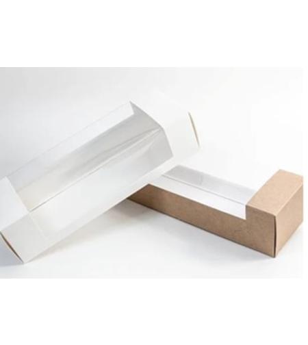 תבנית אינגליש קייק קרטון מכסה שקוף - צבע לבן