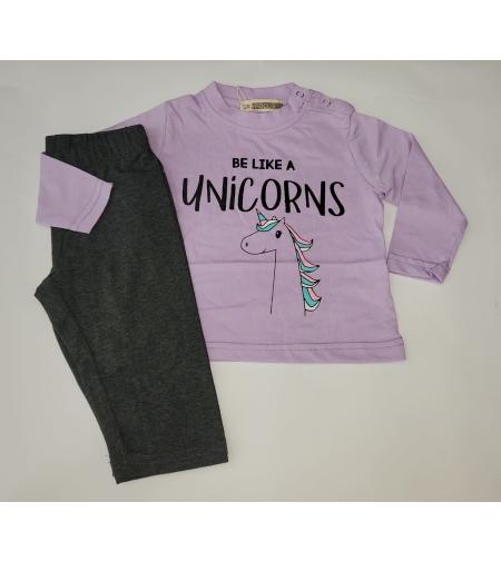 חליפה מעבר תינוקות בנות פוקוס מידה 12-24 (סגול\אפרסק\שחור)