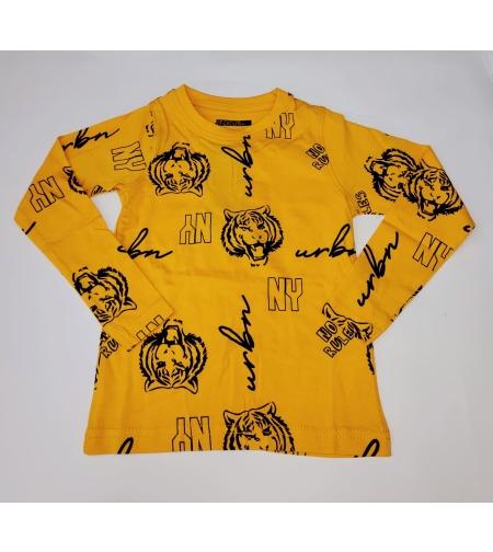 חולצת מעבר בנים FOCUS (צהוב-כחול כהה-ירוק זית) מידה 2-8