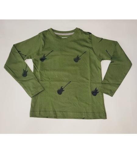 חולצת מעבר בנים FOCUS (ירוק זית-כחול כהה-אפור) מידה 2-8