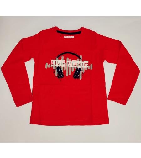 חולצת מעבר בנים FOCUS (אדום-שחור-אפור) מידה 2-8