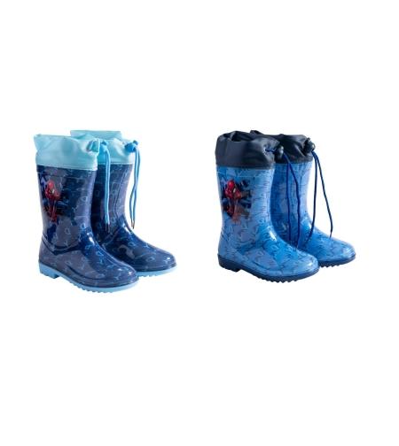 מגפי גשם מותגים בנים 23-29 (כחול בהיר-כחול כהה)