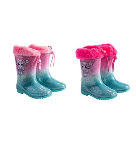 מגפי גשם מותגים בנות 23-29 (ורוד-ורוד בייבי)