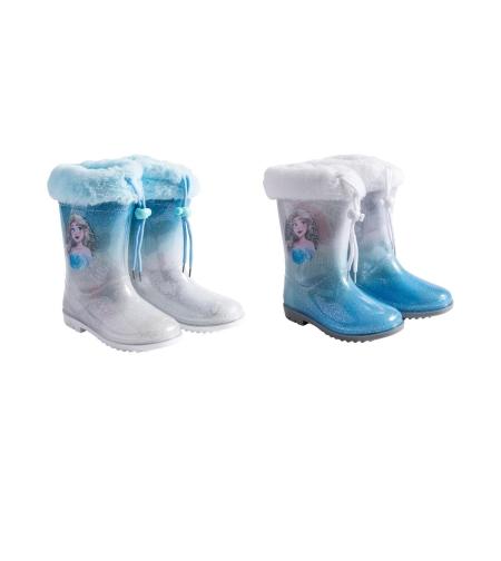 מגפי גשם מותגים בנות 23-29 (לבן-כחול)