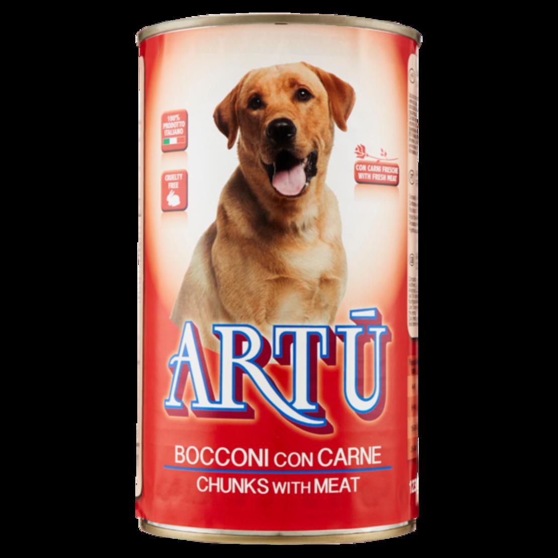 ARTU מזון רטוב לכלבים בפחית שימורים בטעמים לבחירה: כבש / בקר / הודו / טונה