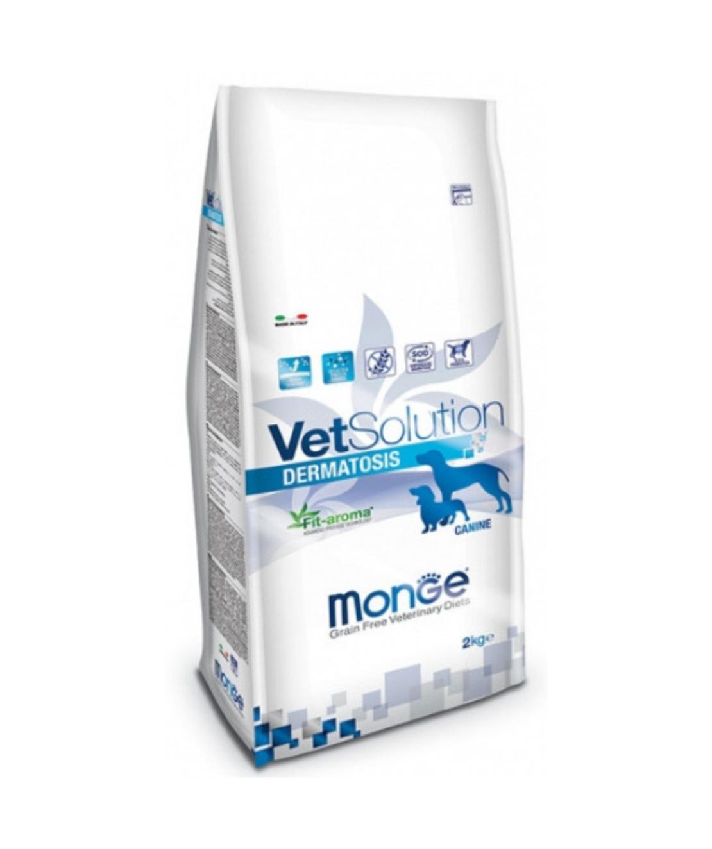 MONGE VetSolution מונג' וט סולושן דרמטוזיס מזון רפואי לכלבים עם בעיות עור 12 ק