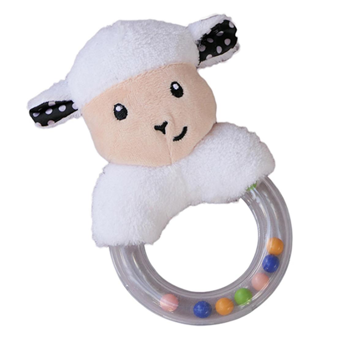 6# - ילדים זו שמחה לבן : סלסילה שחור-לבן משמחת מכילה חליפת שני חלקים, קפוצ'ון ורעשן טבעת קטיפתי