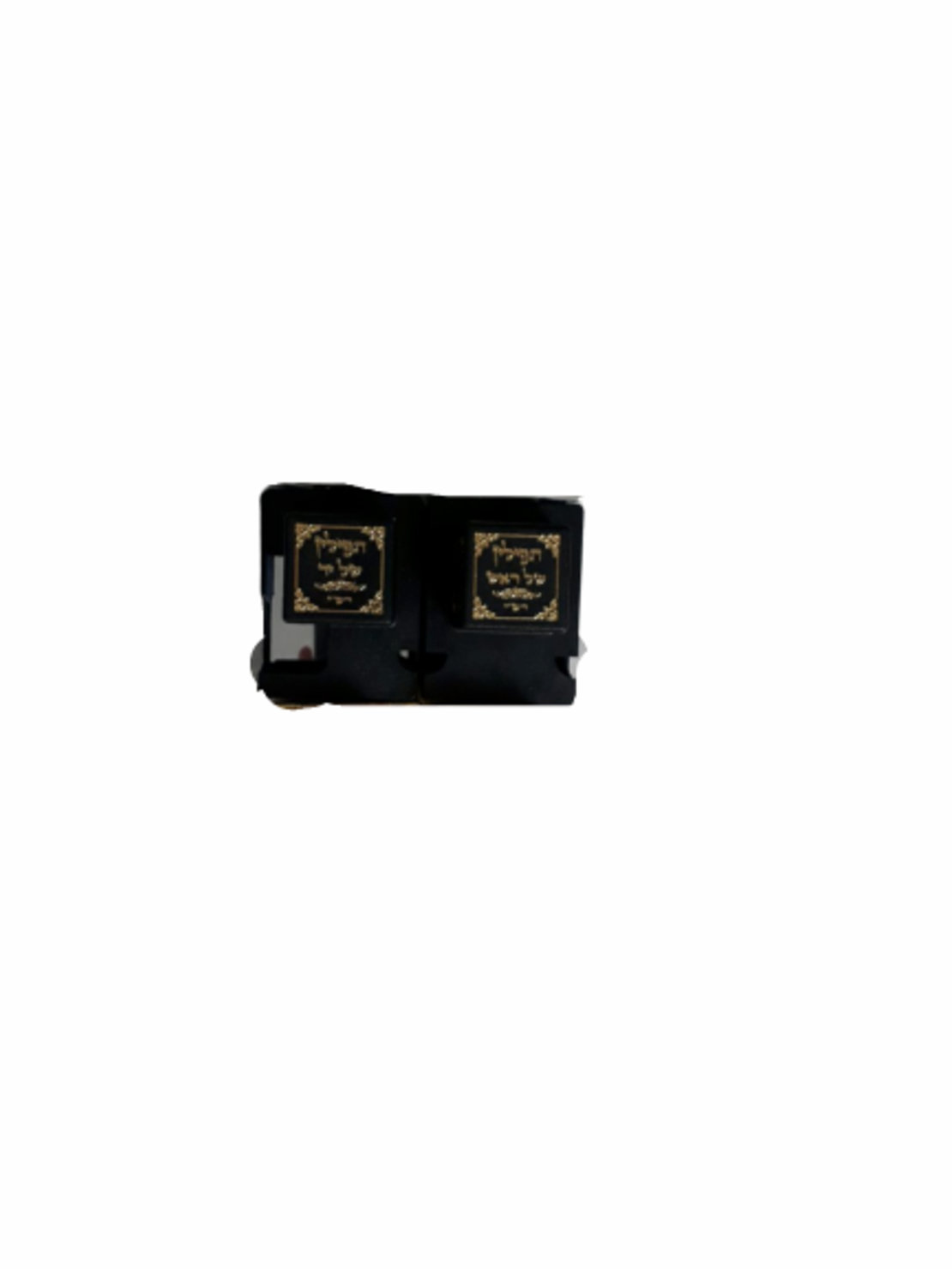 בית תפילין שחור עם עיטורי זהב