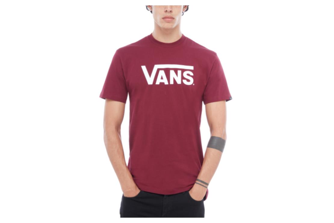 Vans - טי שירט לוגו קלאסית בבורדו