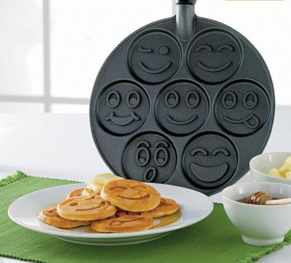 מחבת פנקייק פרצופים חיוכים