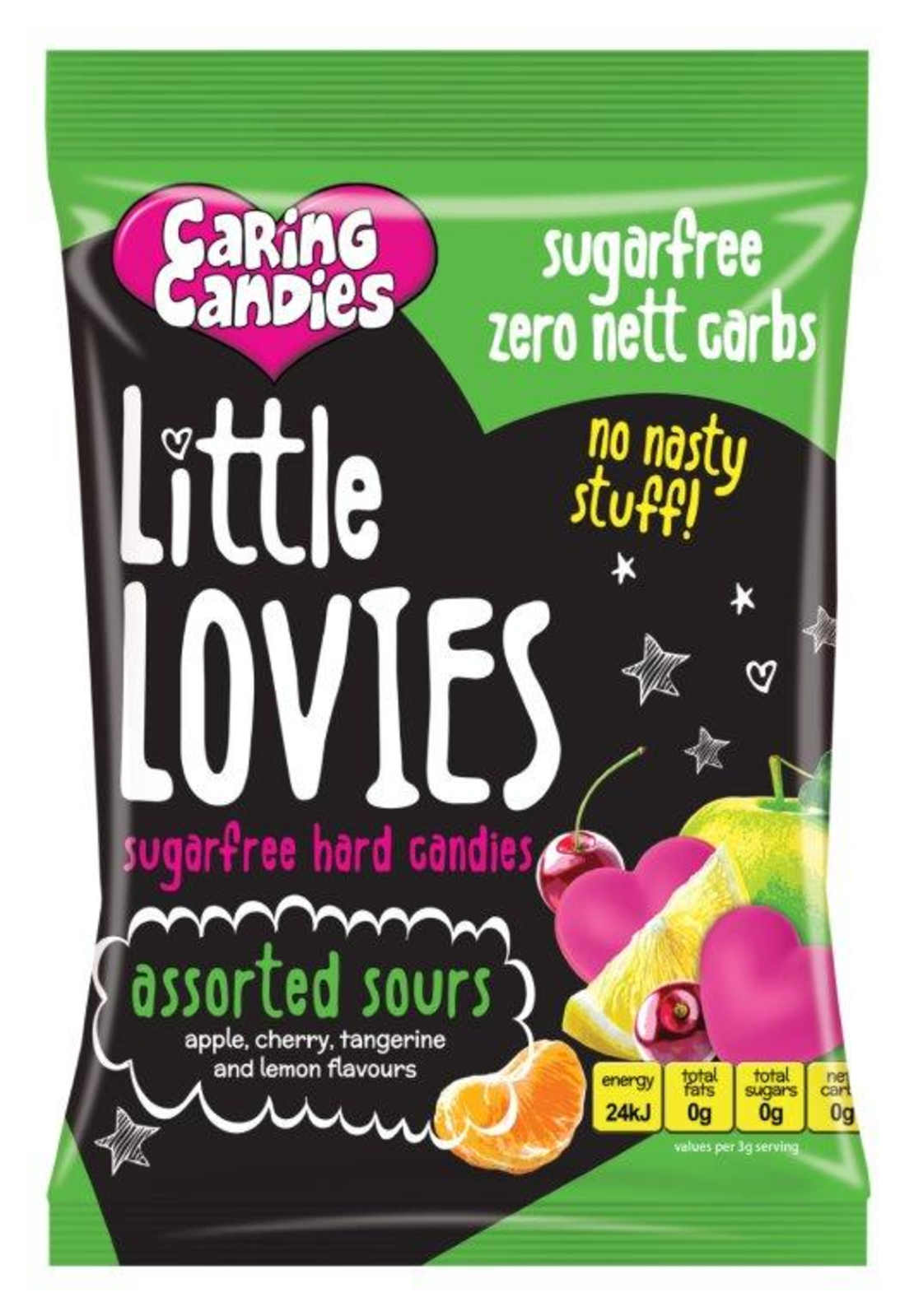 Caring Candies Little Lovies Sours 100g or 1kg