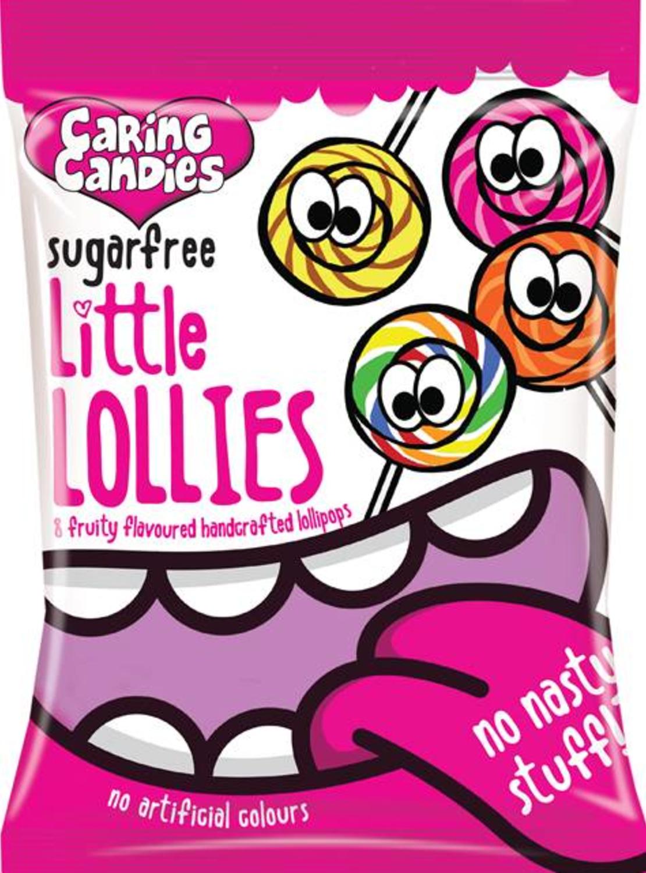 ליטל לוליז - שקית של סוכריות על מקל ללא סוכר 80 ג