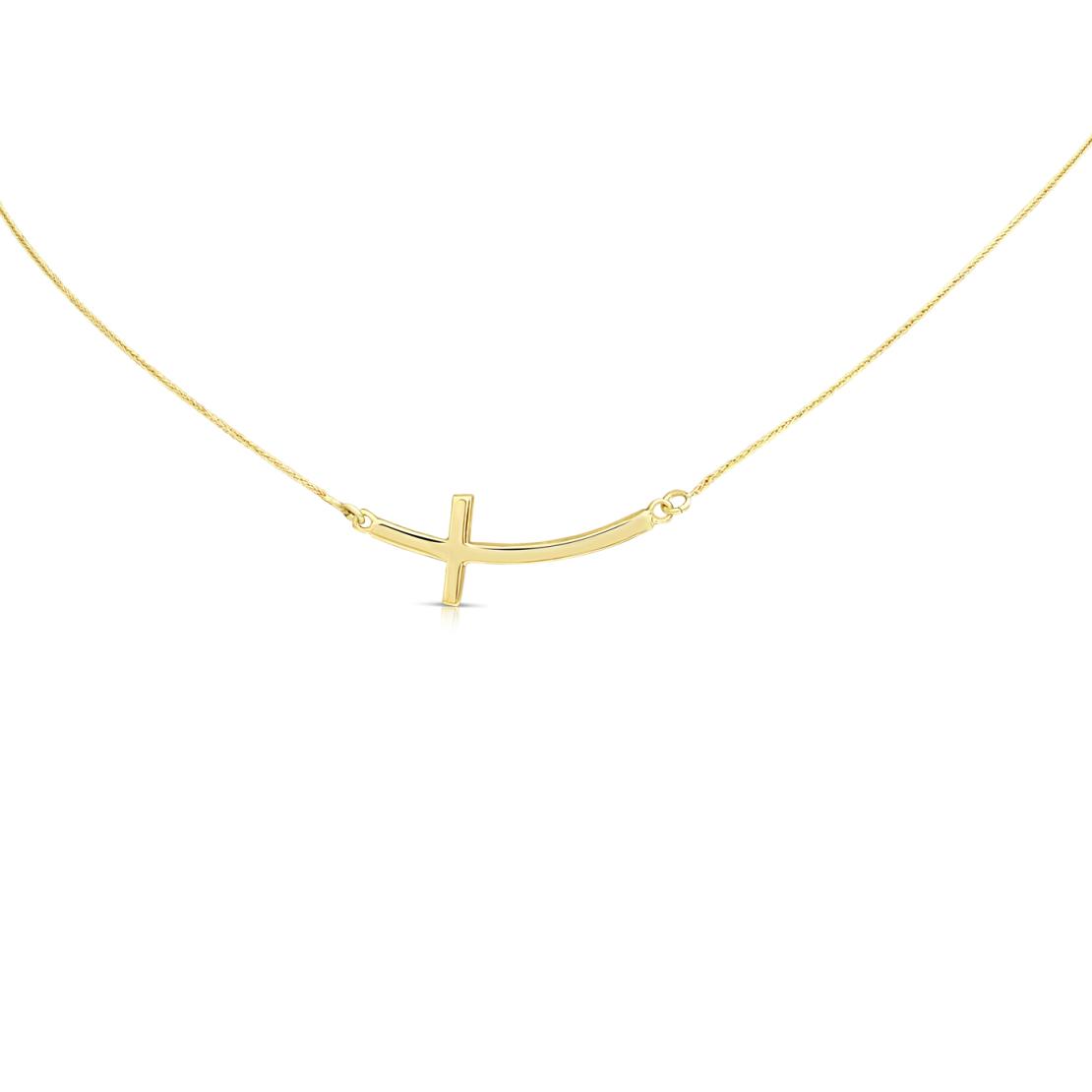 תליון צלב זהב PE1530