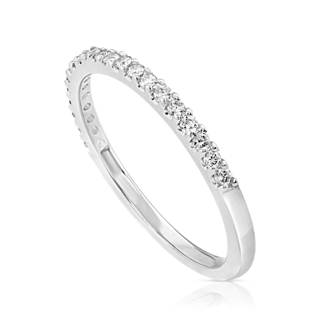 טבעת נישואין עם יהלומים WR1540