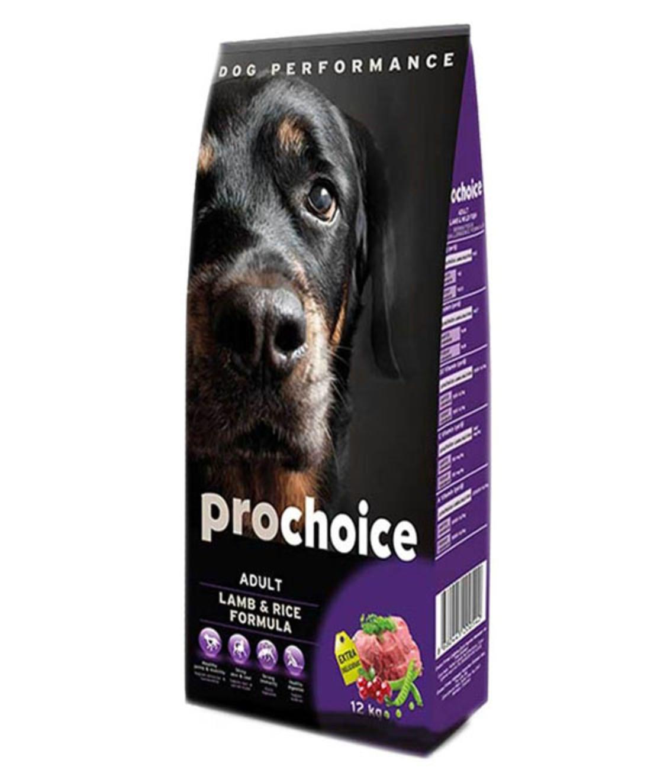פרוצ'וייס - מזון יבש לכלבים בוגרים, כבש ואורז. 12 קילו - Pro Choice