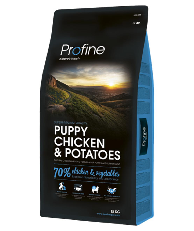 פרופיין - מזון יבש לכלבים גורים, עוף ותפוחי אדמה 15 קילו -profine