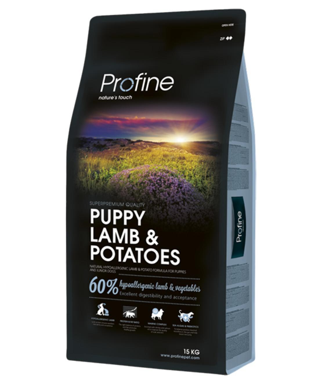 פרופיין - מזון יבש לכלבים גורים, כבש ותפוחי אדמה 15 קילו -profine