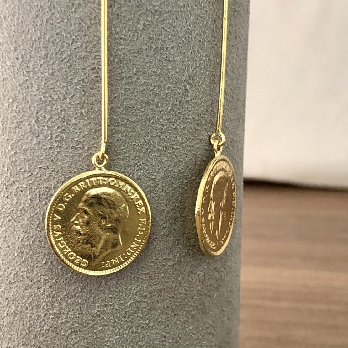 עגילי מטבעות ER1527