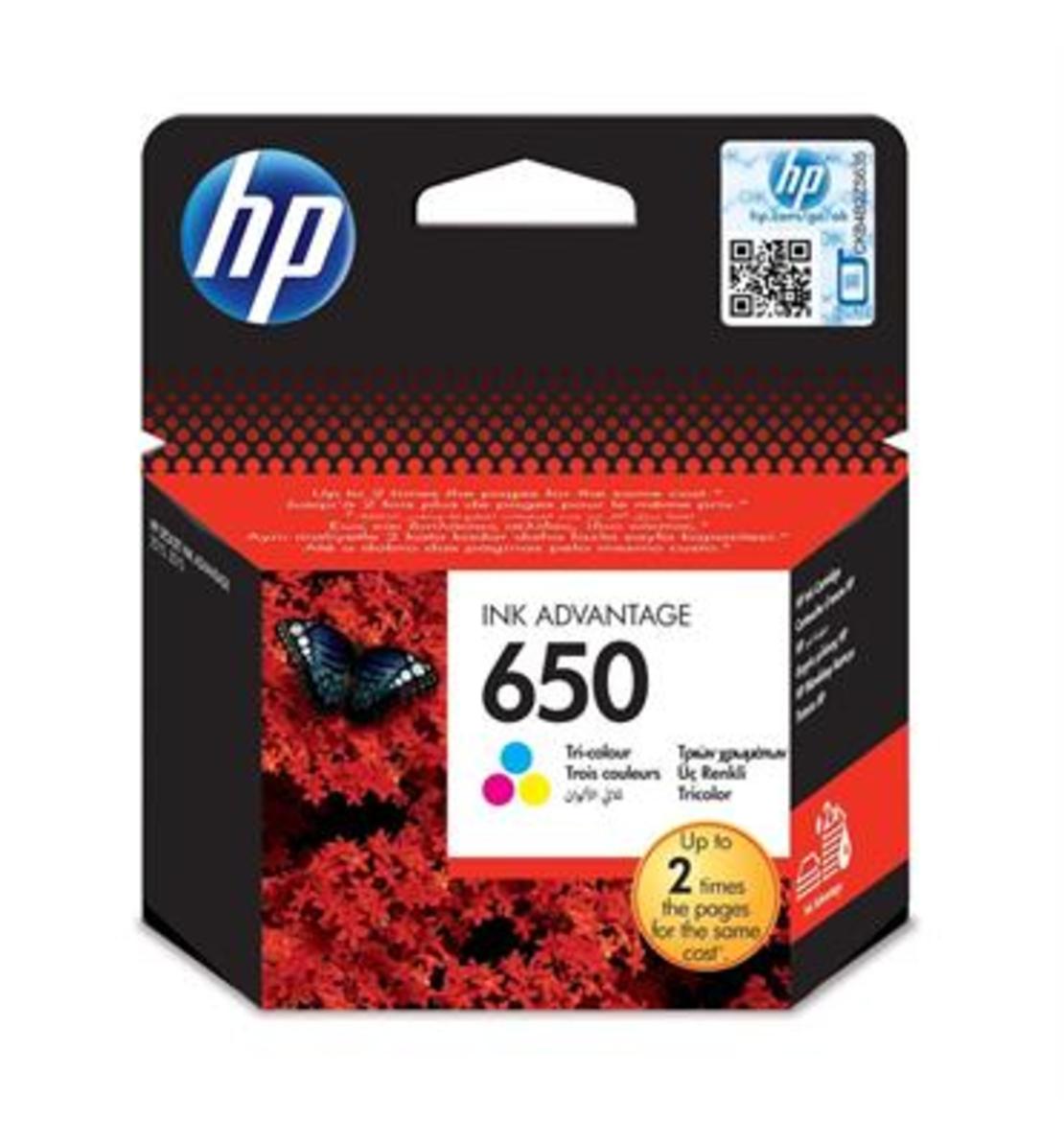 ראש דיו מקורי HP 650 צבעוני
