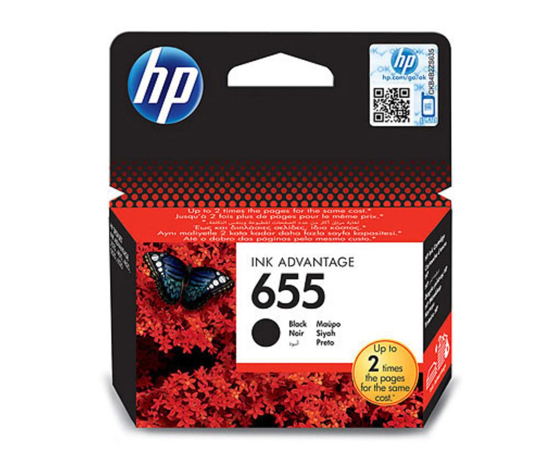 ראש דיו מקורי HP 655 שחור