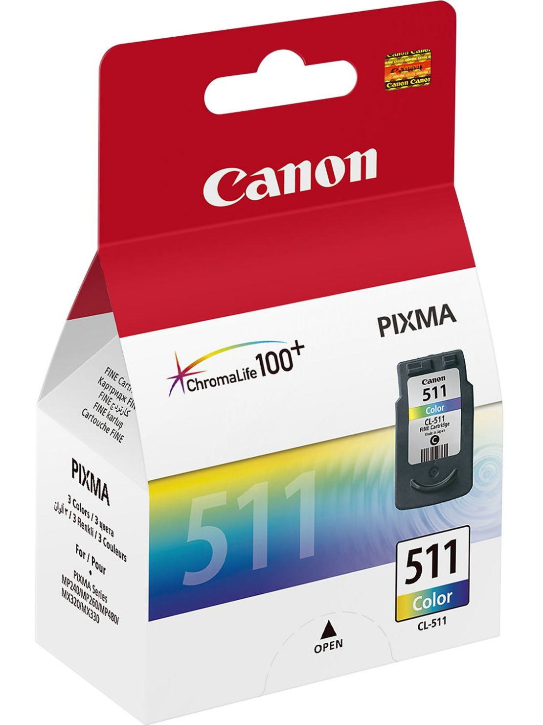 ראש דיו מקורי CANON 511 צבעוני