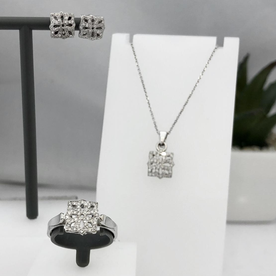 סט SET0209 טבעת, תליון ועגילים