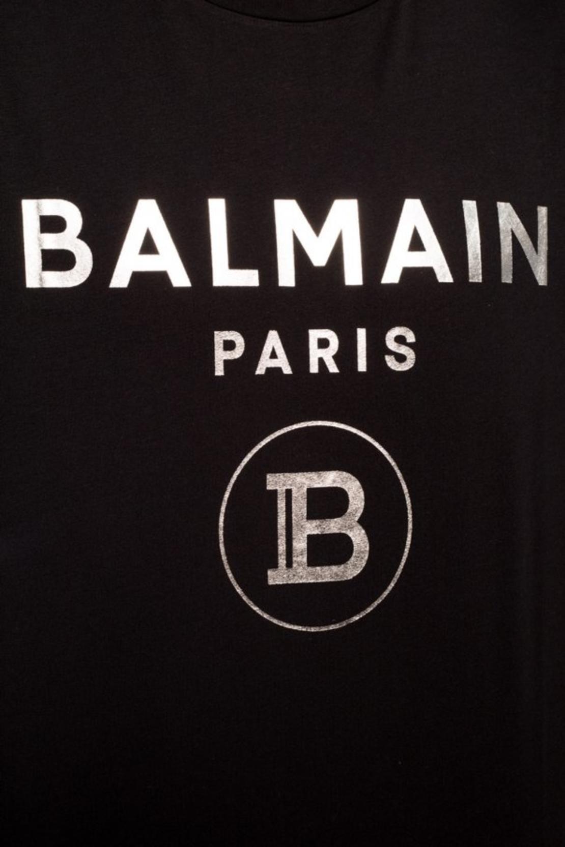 BALMAIN  - LOGO PRINTED T-SHIRT