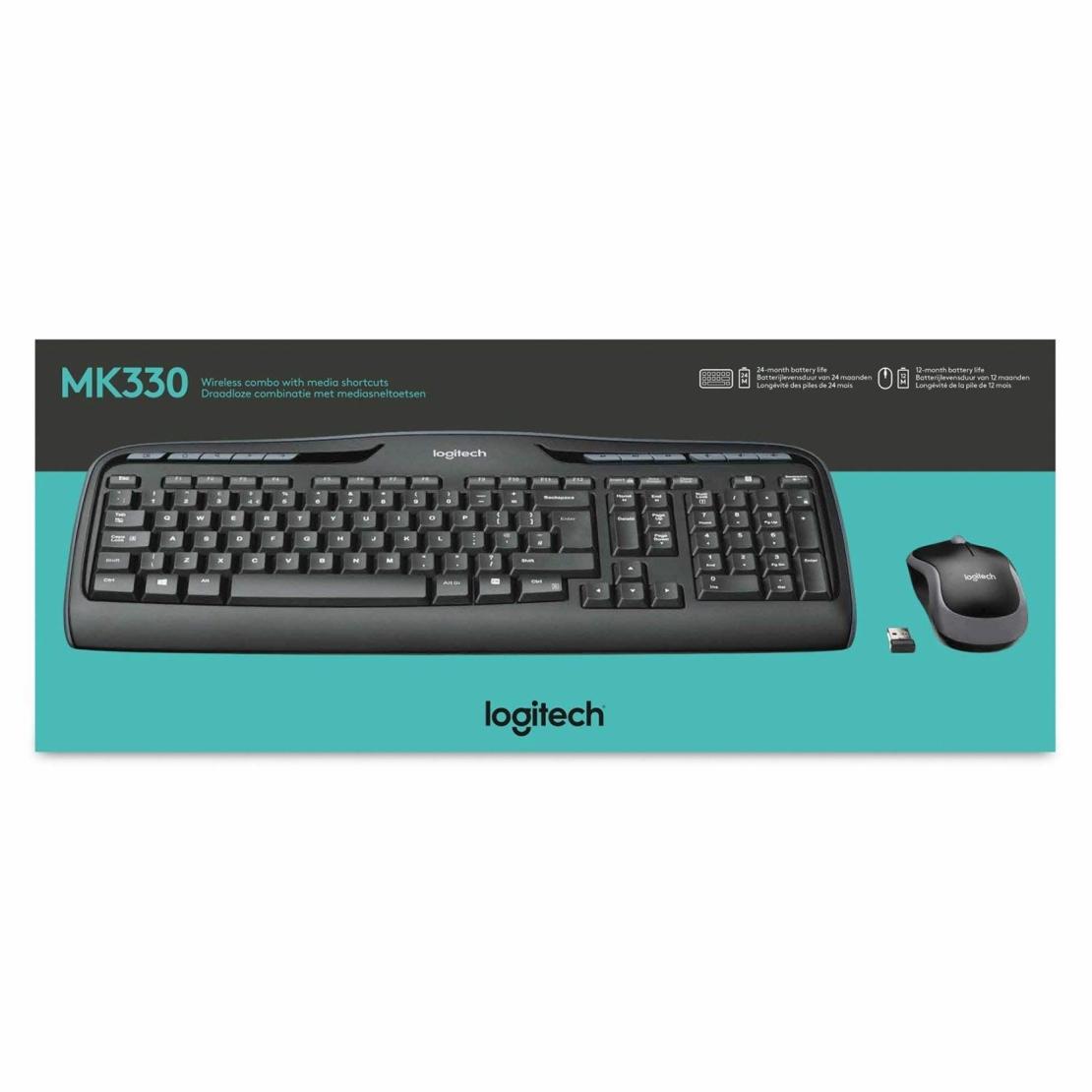 סט מקלדת ועכבר אלחוטיים Logitech MK330