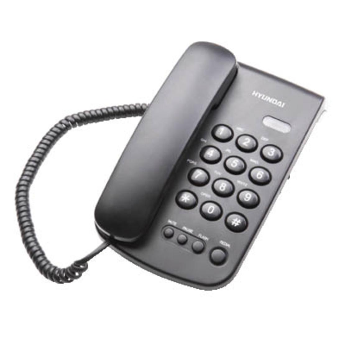 טלפון דקורטיבי שולחני שחור HYUNDAI HDT-2400B