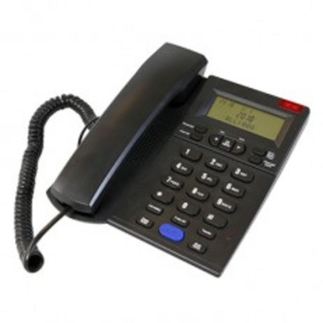 טלפון משרדי  דקורטיבי שחור HYUNDAI HDT-2600B