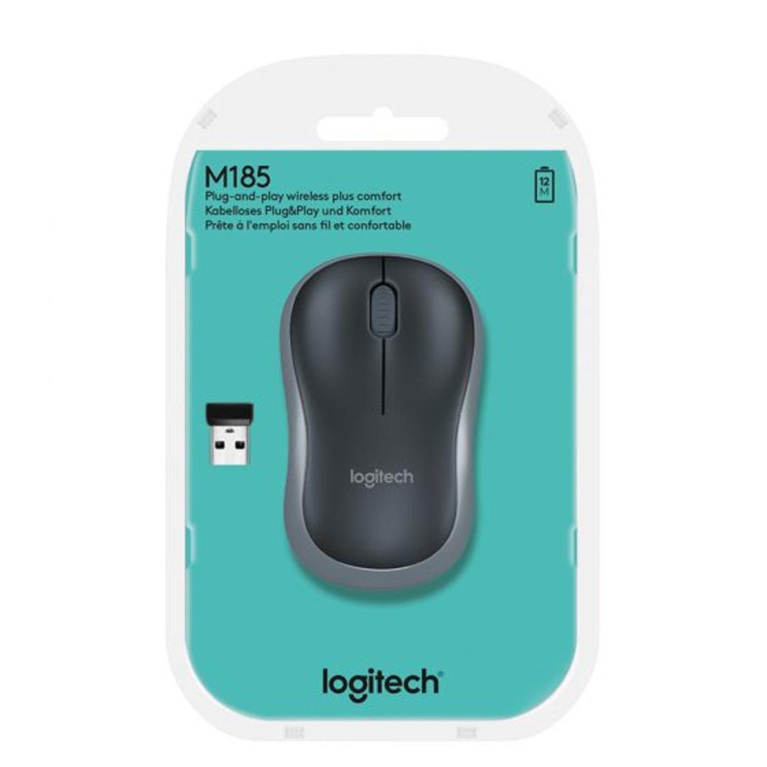 עכבר אלחוטי  Logitech M185 כסוף