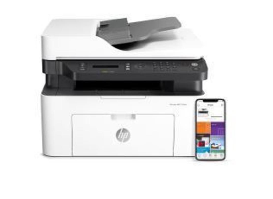 מדפסת לייזר שחור לבן משולבת HP Laser MFP 137fnw
