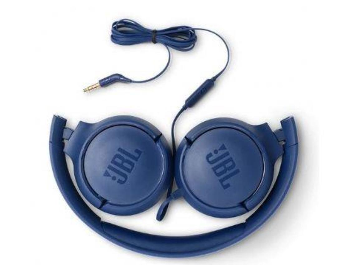 אוזניות קשת חוטיות JBL TUNE T500  כחול